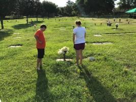 Kids at Grave